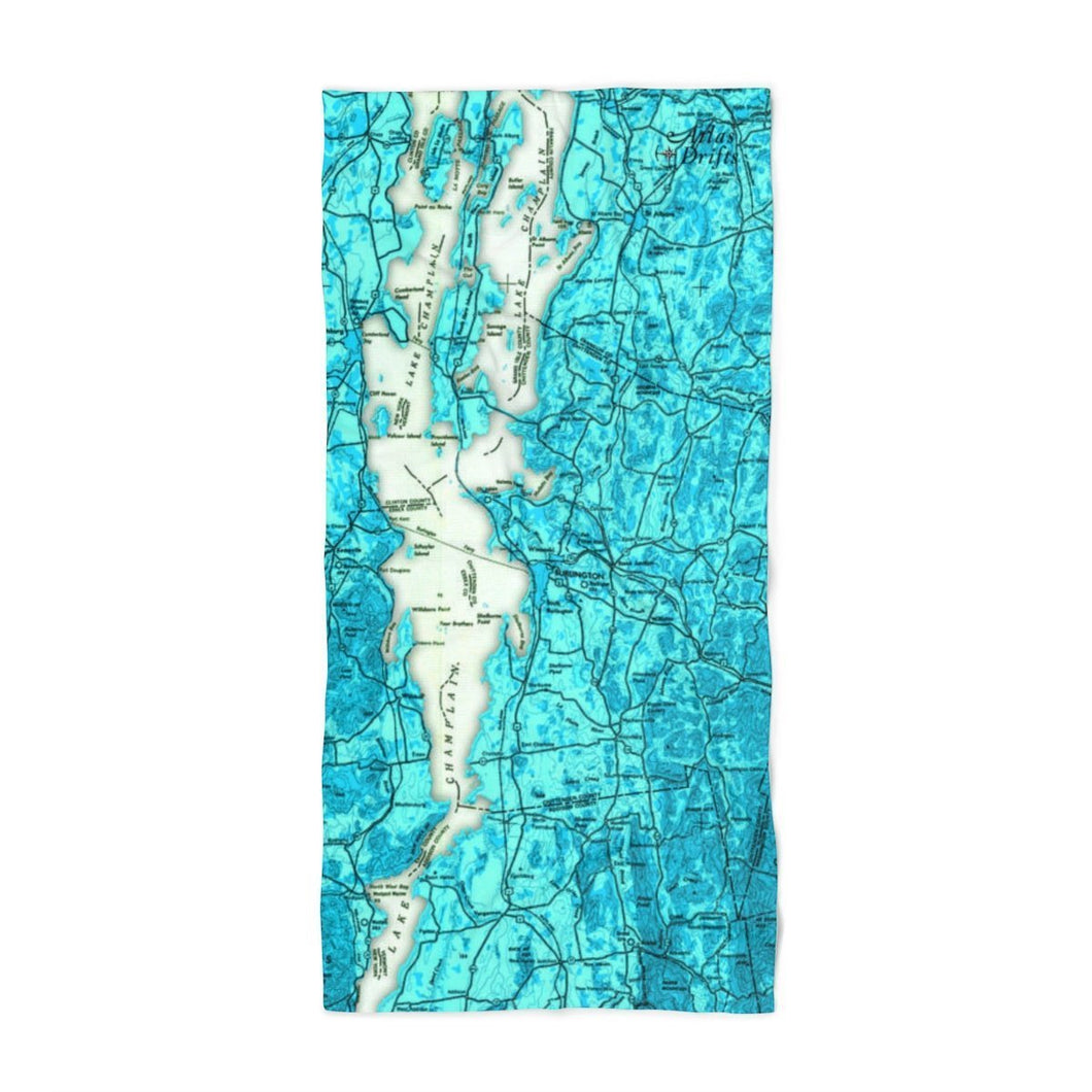 Lake Champlain Beach Towel