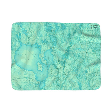 Sebago Lake Sherpa Fleece Blanket