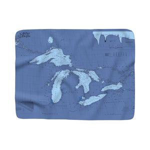 Great Lakes Sherpa Fleece Blanket
