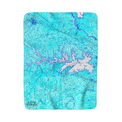 Lake Murray Sherpa Fleece Blanket