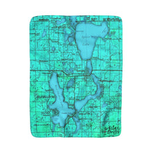 Iowa Great Lakes Sherpa Fleece Blanket