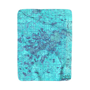 Lake Minnetonka Sherpa Fleece Blanket