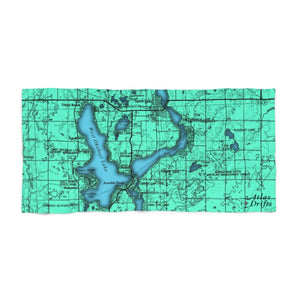 Okoboji East and West Beach Towel