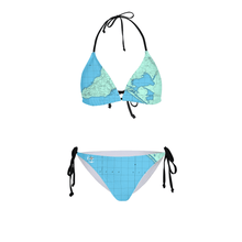 Barker Australiayy Womens All-Over Print Bikini