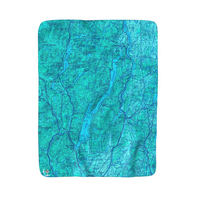 Lake George Sherpa Fleece Blanket