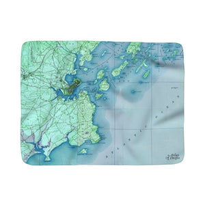Portland Maine Sherpa Fleece Blanket