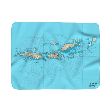St. Thomas/St. John Sherpa Fleece Blanket