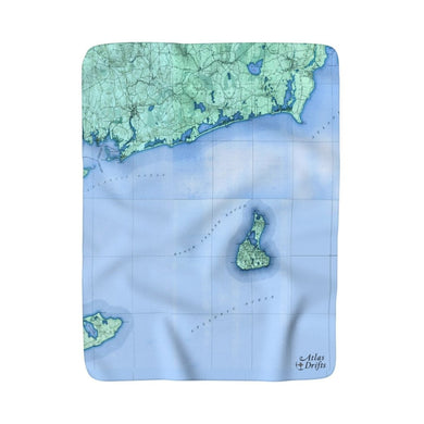 Block Island Sherpa Fleece Blanket