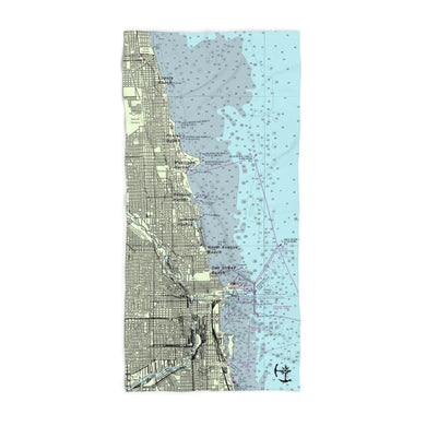 Chicago Lakefront Beach Towel