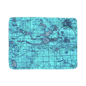 West Bloomfield Area Sherpa Fleece Blanket