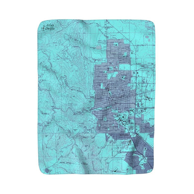 Boulder, Colorado Sherpa Fleece Blanket