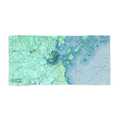 Portland Maine Beach Towel