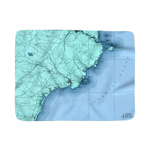 Kennebunkport Sherpa Fleece Blanket