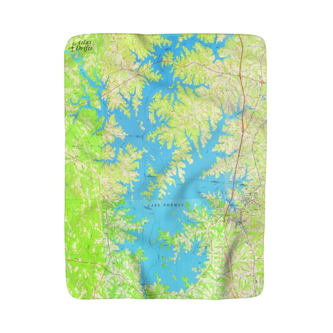 Lake Norman Sherpa Fleece Blanket