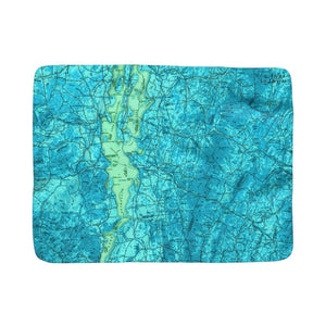 Lake Champlain Sherpa Fleece Blanket