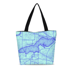 Pewaukee Lake Canvas Zip Tote