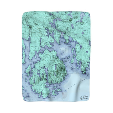 Mount Desert Island Sherpa Fleece Blanket