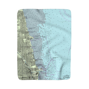 Chicago Coast Sherpa Fleece Blanket