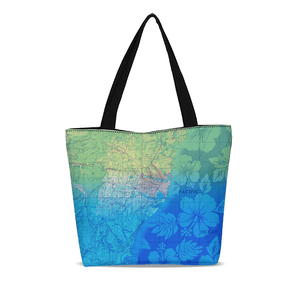 Beach Canvas Zip Tote