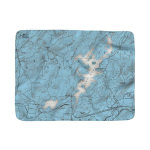 Lake Hopatcong Sherpa Fleece Blanket