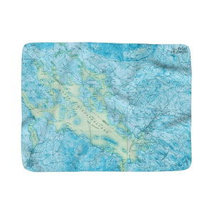 Lake Winnipesaukee Sherpa Fleece Blanket