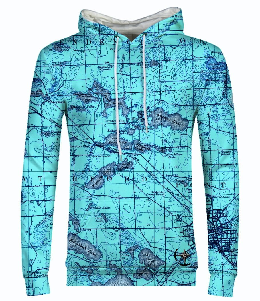 Watkins, Angelus, and Woodhull Lake Area Men's Hoodie