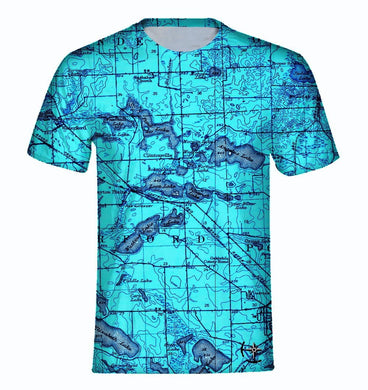 Watkins, Angelus, and Woodhull Lake Area Men's T-Shirt