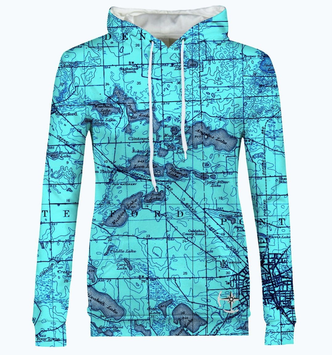 Watkins, Angelus, and Woodhull Lake Area Women's Hoodie
