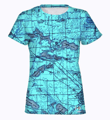 Watkins, Angelus, and Woodhull Lake Area Women's T-Shirt