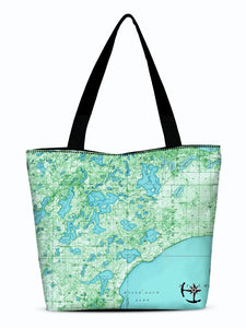 Bay Lake Canvas Zip Tote