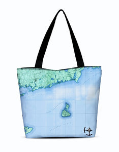 Block Island Canvas Zip Tote