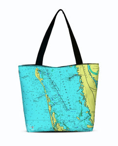 Captiva Island Canvas Zip Tote