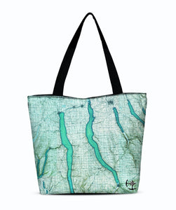 Cayuga Lake Canvas Zip Tote