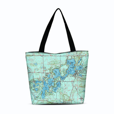 Chain O' Lakes Canvas Zip Tote