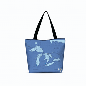 Great Lakes Canvas Zip Tote