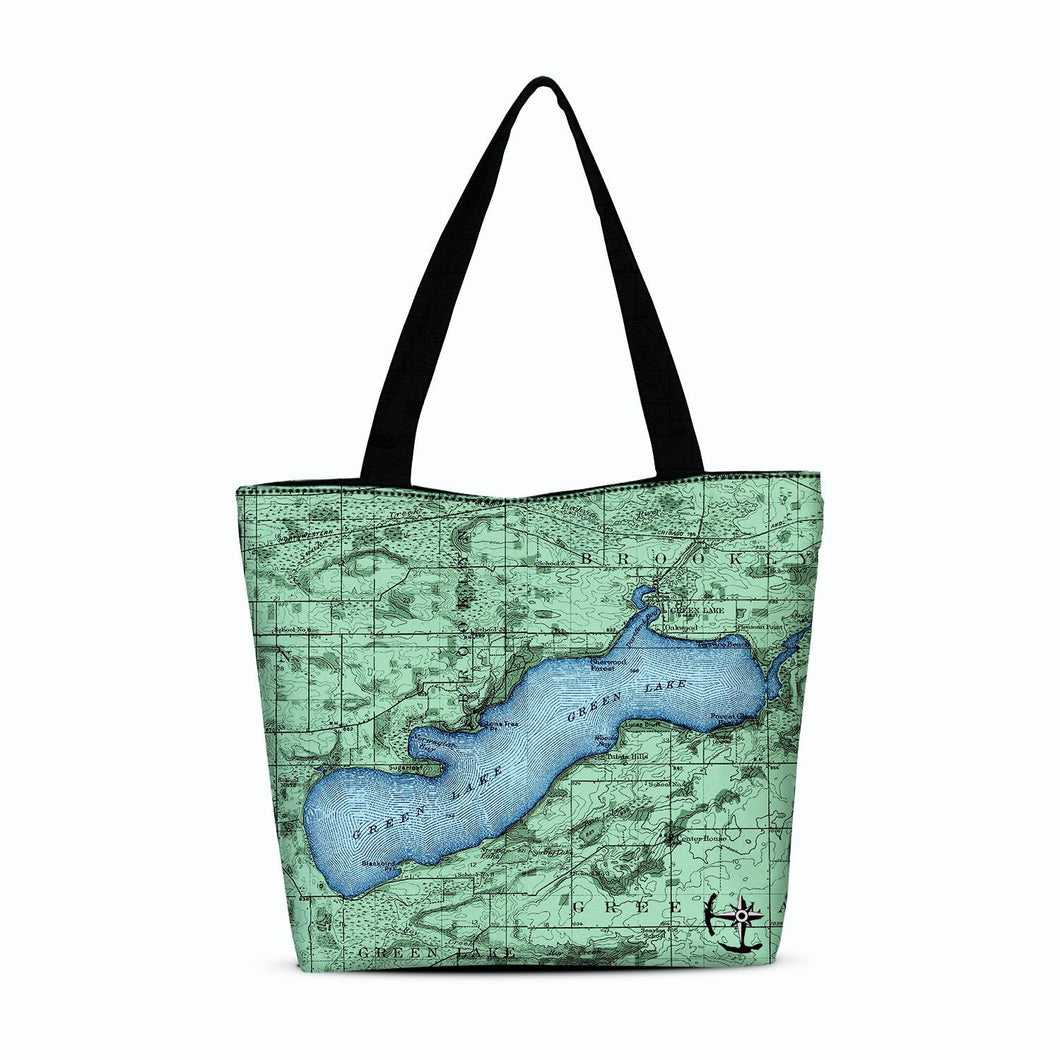 Green Lake Canvas Zip Tote