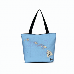Hawaii Canvas Zip Tote