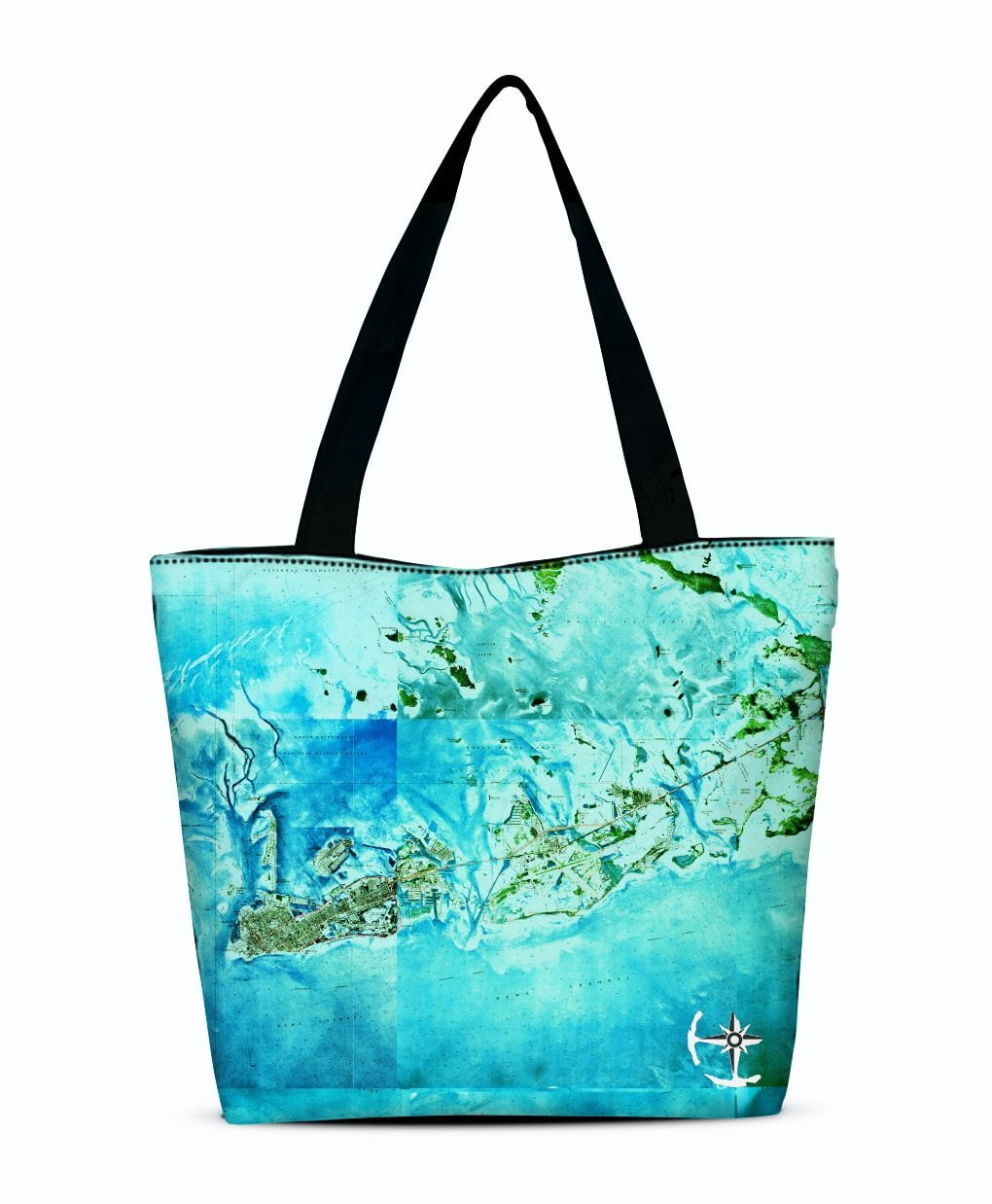 Tropical Florida Keys Canvas Zip Tote