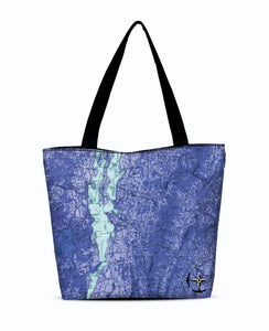 Lake Champlain Canvas Zip Tote