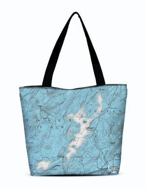 Lake Hopatcong Canvas Zip Tote