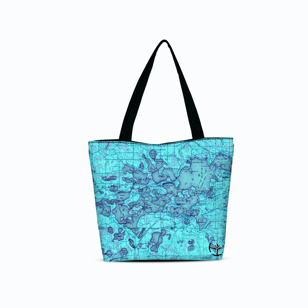 Lake Minnetonka Canvas Zip Tote