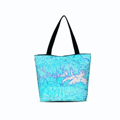 Lake Murray Canvas Zip Tote