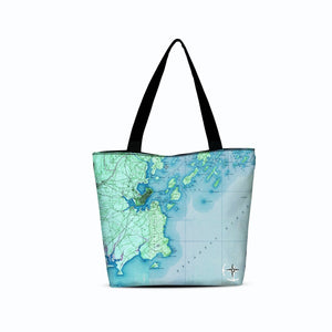 Portland Maine Canvas Zip Tote