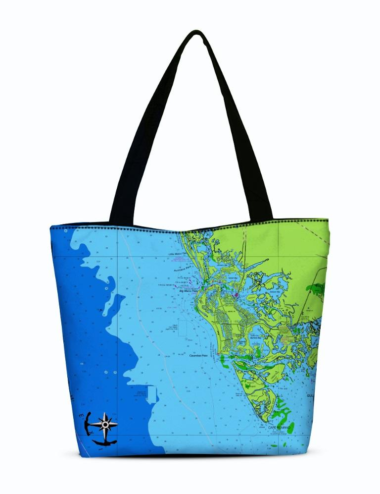 Marco Island Canvas Zip Tote
