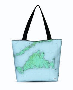 Martha's Vineyard Canvas Zip Tote