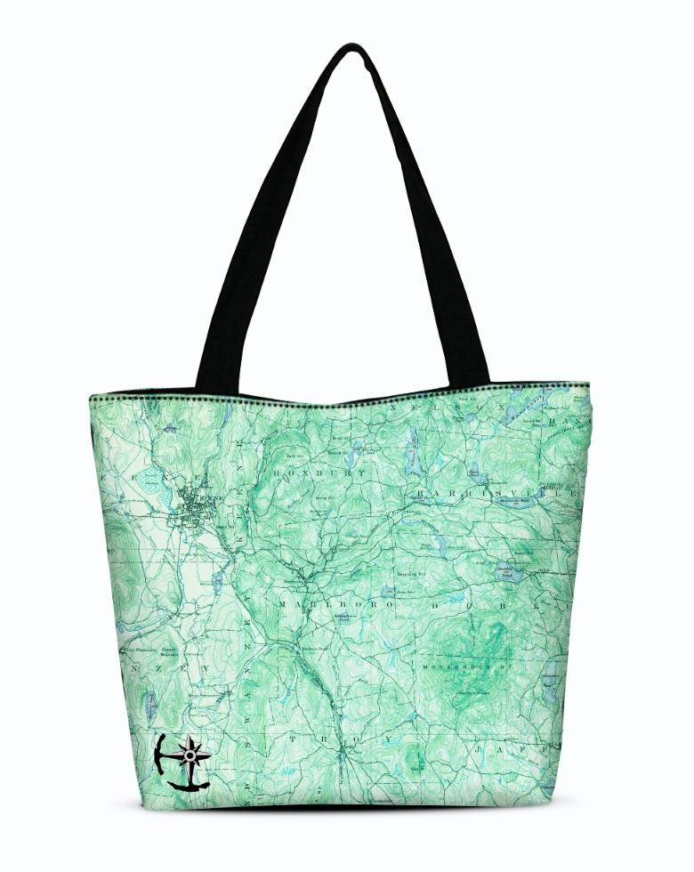 Mount Monadnock Canvas Zip Tote
