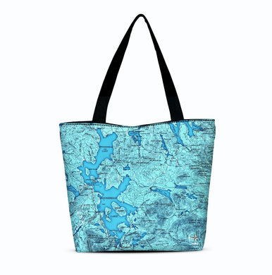 Moosehead Lake Canvas Zip Tote