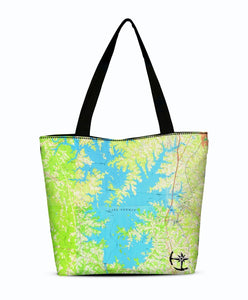 Lake Norman Canvas Zip Tote