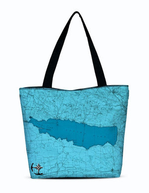 Oneida Lake Canvas Zip Tote