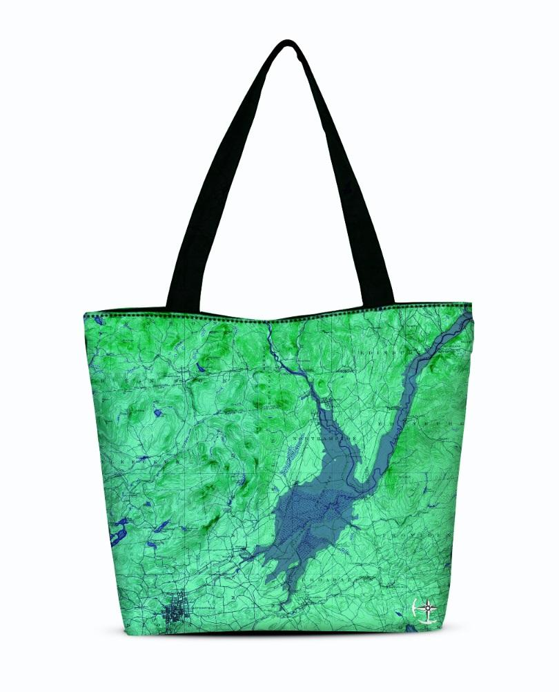 Great Sacandaga Lake Canvas Zip Tote